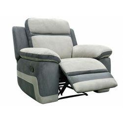 Fotel TALCA z funkcją relaksu, z mikrofibry – kolor jasnoszary i antracytowy