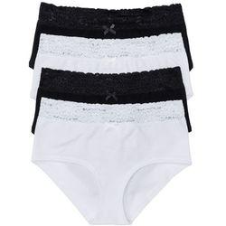 """Figi """"maxi panty"""" (4 pary) bonprix czarno-biały"""
