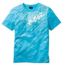 T-shirt Slim Fit bonprix turkusowy