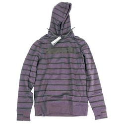 bluza BENCH - Her. Printed Stripe Corp Hoodie Winter Antracite Marl (MA1055)