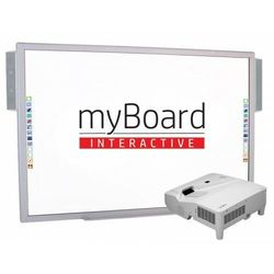 """ZESTAW! Tablica myBoard 84"""" S + projektor ultra short NEC UM361X + uchwyt ścienny + okablowanie 10 m (230V, HDMI) + GRATIS głośniki AMP-32"""