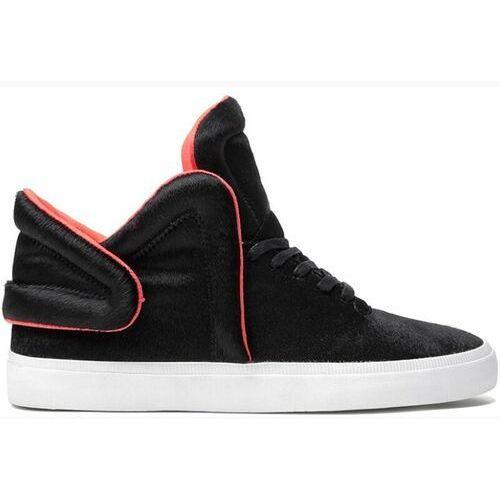 Męskie obuwie sportowe, buty SUPRA - Falcon Black/Neon Orange (BLK) rozmiar: 40.5