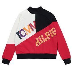 TOMMY HILFIGER Bluzka sportowa 'COLOR TEXT BLOCK SWEATSHIRT' czerwony / czarny / biały