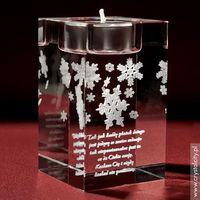 Ozdoby świąteczne, Śnieżynki 3D • personalizowany świecznik • GRAWER 3D
