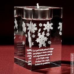 Śnieżynki 3D • personalizowany świecznik • GRAWER 3D