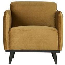 Be Pure Fotel Statement velvet miodowo- żółty 378670-14