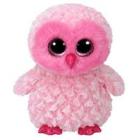 Pozostałe lalki i akcesoria, Beanie boos twiggy - pink owl 15 cm