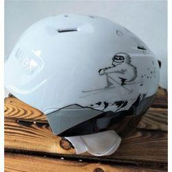 UVEX kask narciarski dziecięcy Manic - white yeti (46-50 cm)