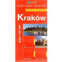 Przewodniki turystyczne, Kraków. Plan miasta 1:22 500 (opr. broszurowa)