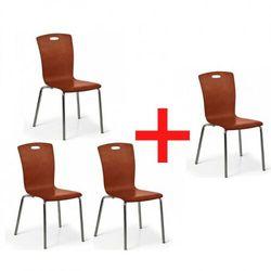 Fotel do jadalni Rita, orzech, 3+1 GRATIS