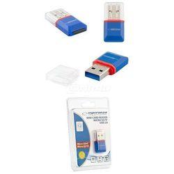 Czytnik kart pamięci micro-SD Esperanza EA134B, USB 2.0, micro-SDHC, micro-SD, TF