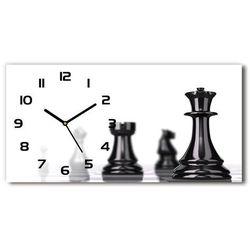 Zegar ścienny szklany Bierka szachowa