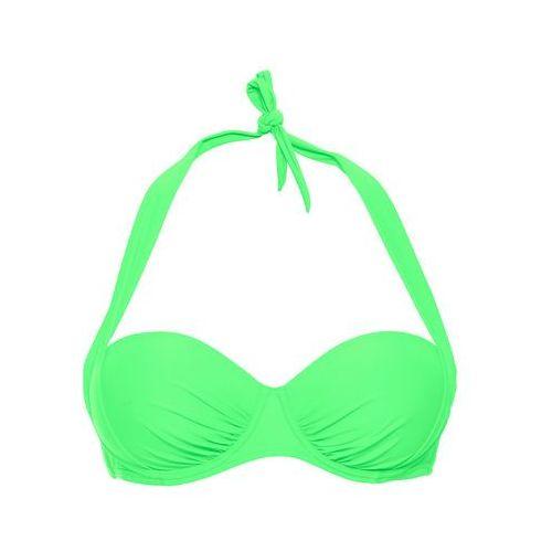 Stroje kąpielowe, Biustonosz bikini na fiszbinach bonprix zielony miętowy
