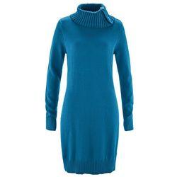Długi sweter bonprix niebieski oceaniczny