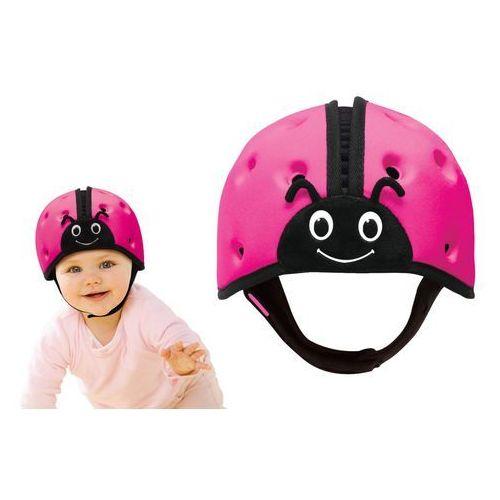 Kaski ochronne dla dzieci, Kask ochronny do nauki chodzenia 7-24msc SAFEHEAD - różowa biedronka