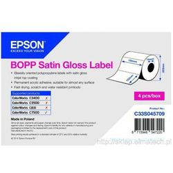 BOPP Satin Gloss Label - Die-cut Roll: 102mm x 152mm, 960 etykiet