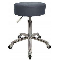 Krzesło taboret kosmetyczny fryzjerski hoker design Szary