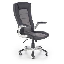 Fotel gabinetowy obrotowy HALMAR UPSET czarny-popielaty, Negocjuj cenę