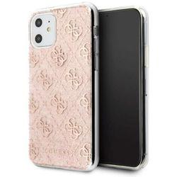 Guess GUHCN61PCU4GLPI iPhone 11 różowy/pink hard case 4G Glitter