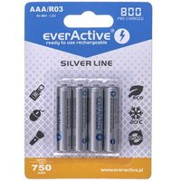 Akumulatorki, Akumulatorki EVERACTIVE Ni-MH R03 AAA 800 mAh Silver Line (4 szt.)
