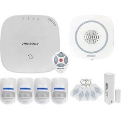 ZA12661 Bezprzewodowy system alarmowy GSM 4G 4 czujki ruchu HIKVISION z sygnalizatorem i pilotem