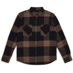 koszula BRIXTON - Bowery L/S Flannel Heather Grey/Charcoal (HTGCH)