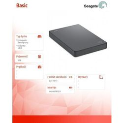Dysk Seagate STJL2000400 - pojemność: 2 TB, USB: 3.0