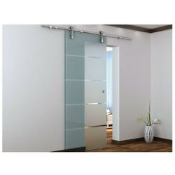 Naścienne drzwi przesuwne GLASSY - wys. 205 × szer. 83 cm - Szkło hartowane