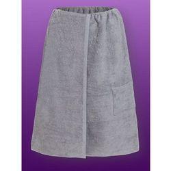 Sauna Kilt Ręcznik Bawełna Uniwersalny 75 /150cm XL Rzep Szary