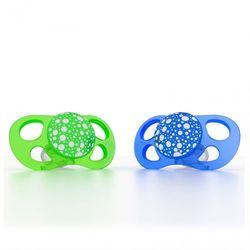 Smoczki uspokajające Twistshake Mini 0m+ - zielony/niebieski 2 szt 7350083120830