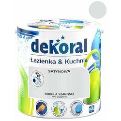 Farba satynowa Dekoral Łazienka i Kuchnia kropla szarości 2,5 l