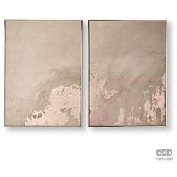 Obraz 2-częściowy w ramie Abstrakcja - różowe złoto 105877 Graham&Brown