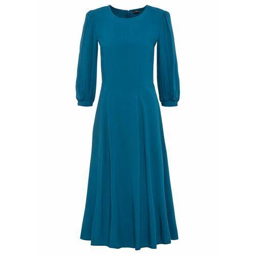 Suknie i sukienki, Sukienka w paski, z rękawami z falbanami bonprix czarny