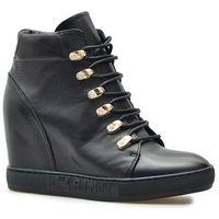 Damskie obuwie sportowe, Carinii Sneakersy B5185-E50 Czarne lico