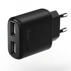 Ładowarka Hama 2x USB 2.4A Czarna (001736230000) Darmowy odbiór w 20 miastach!