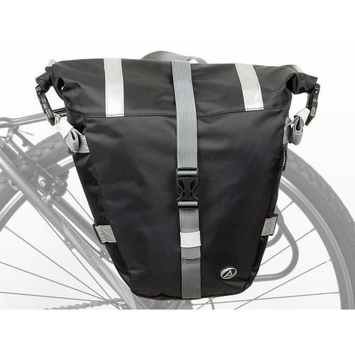 Pozostałe akcesoria rowerowe, Torba na bagażnik boczna AUTHOR A-N495 czarna