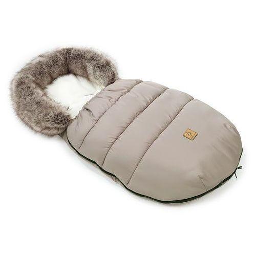 Śpiworki do wózków, MAMO-TATO Zimowy śpiwór do wózka - Beż / ecru