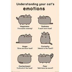 Pusheen Cats Emotions - plakat