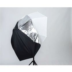Parasolka All in one 72cm Silver/White