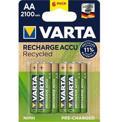 Varta akumulatory Recycled 6 AA 2100 mAh R2U 56816101436
