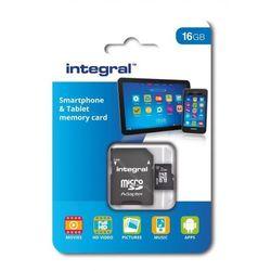 Integral microSDHC Class 10 UHS 1 Class 1 pamięć flash: do 90 MB/s do tabletów i smartfonów, czarny 16 GB