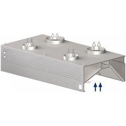 Okap przyścienny skrzyniowy kompensacyjno-indukcyjny 4500x1100x450 mm   STALGAST, 9821411450