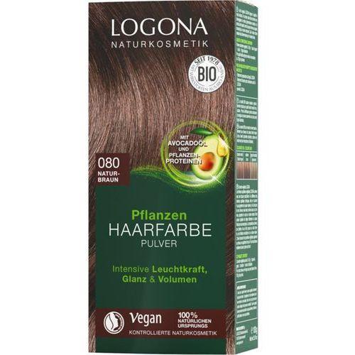 Farbowanie włosów, Roślinna farba do włosów w proszku 080 NATUR-BRAUN (naturalny brąz)