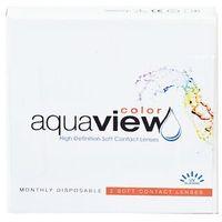 Soczewki kontaktowe, AquaView Color 6 szt. - zerówki