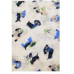 PIELUCHA tetrowa 70x80cm Niebieskie pieski
