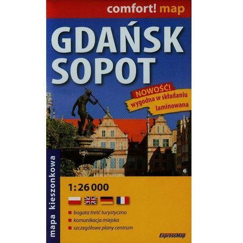 Mapy i atlasy turystyczne, Gdańsk Sopot plan miast laminowany