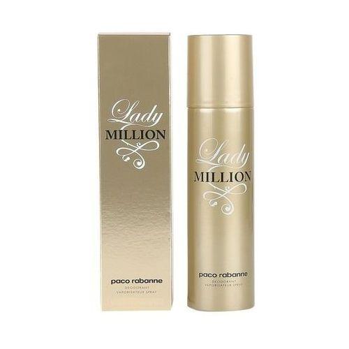 Dezodoranty damskie, Paco Rabanne Lady Million dezodorant 150 ml dla kobiet