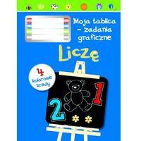 Książki dla dzieci, Liczę. Moja tablica - zadania graficzne + 4 kolorowe kredy (opr. twarda)