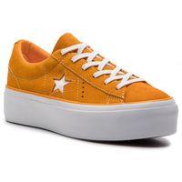 Damskie obuwie sportowe, Tenisówki CONVERSE - One Star Platform Ox 563487C Field Orange/White/White