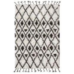 HK Living Ręcznie tkany dywan berberski wykonany z wełny z brązowo-białymi wzorkami (120x180) TTK3020